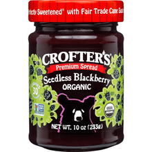 Load image into Gallery viewer, Crofter's Organic Premium Spread, Blackberry Seedless 10 oz (283 g)
