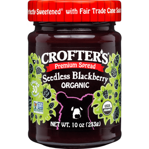 Crofter's Organic Premium Spread, Blackberry Seedless 10 oz (283 g)