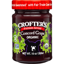 Load image into Gallery viewer, Crofter's Organic Premium Spread, Concord Grape, 10 oz (283 g)