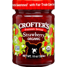 Load image into Gallery viewer, Crofter's Organic Premium Spread, Strawberry, 10 oz (283 g)
