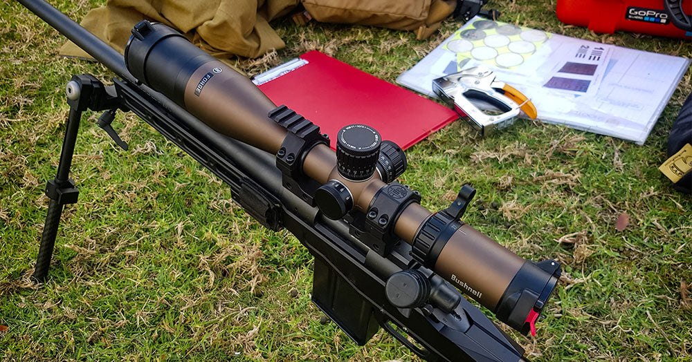 Bushnell Forge 4.5-27X50 FFP SF Riflescope in use