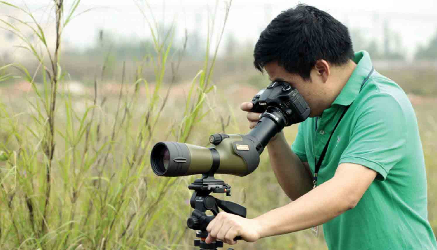 Using spotting scope