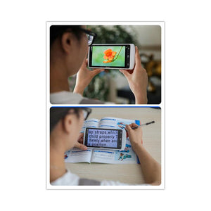 "Anyview iView 5.5"" HD Handheld Electronic Magnifier in use"