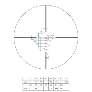 Athlon Talos 6-24x50 SFP SF Riflescope BDC 600 IR Reticle subtensions