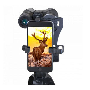 Carson HookUpz Smartphone Adapter for Binoculars in use