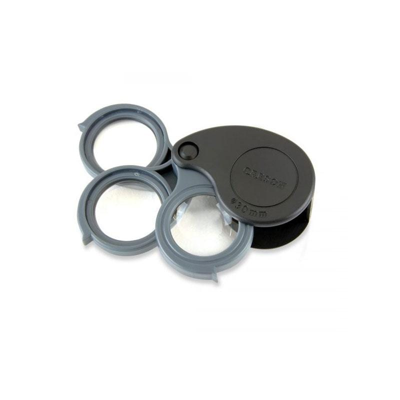 Carson TriView 5x / 10x / 15x Folding Loupe with Built-in Case