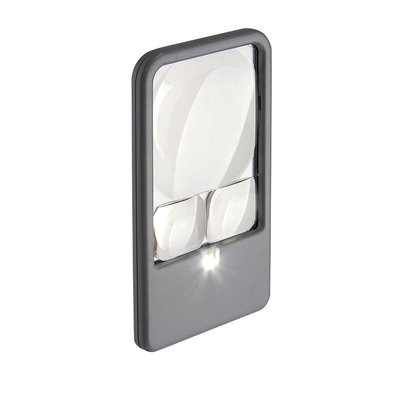 Carson 2.5x, 5x, and 6x LED Lighted Pocket Magnifier