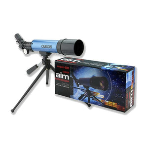 Carson AIM 50mm Refractor Telescope with box