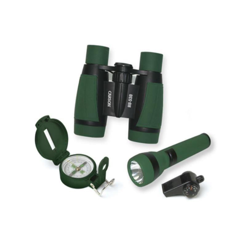 Carson AdventurePak Kids Outdoor Binocular, Compass and Torch Set