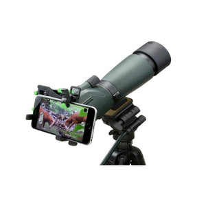 Carson HookUpz 2.0 Universal Optics Adapter for Smartphones - On spotting scope