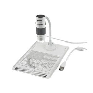 Carson eFlex 75x and 300x eFlex Handheld Digital Microscope with Flex Neck Stand and Base