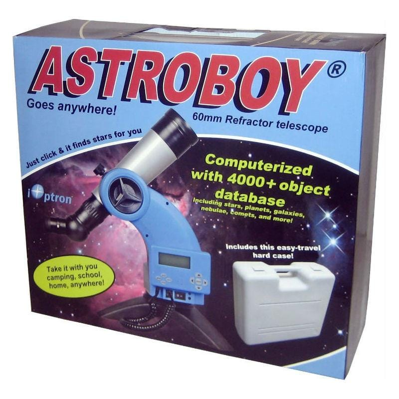 Ioptron 60mm Astroboy Telescope (Blue) in packaging