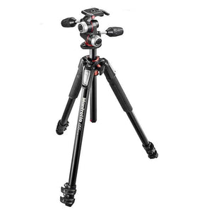 Manfrotto 055 Aluminium 4-Section 3-Way Pan Head Tripod