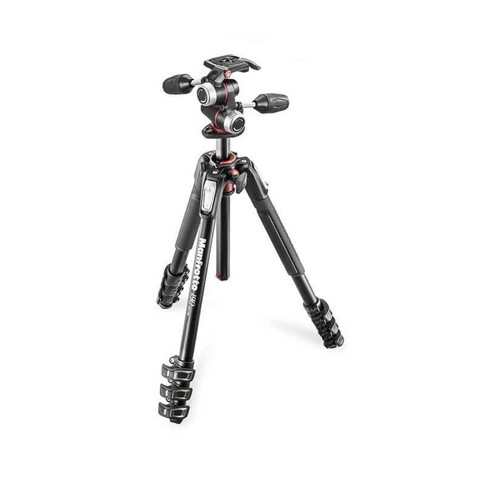 Manfrotto 190 Aluminium 4-Section 3-Way Pan Head Tripod