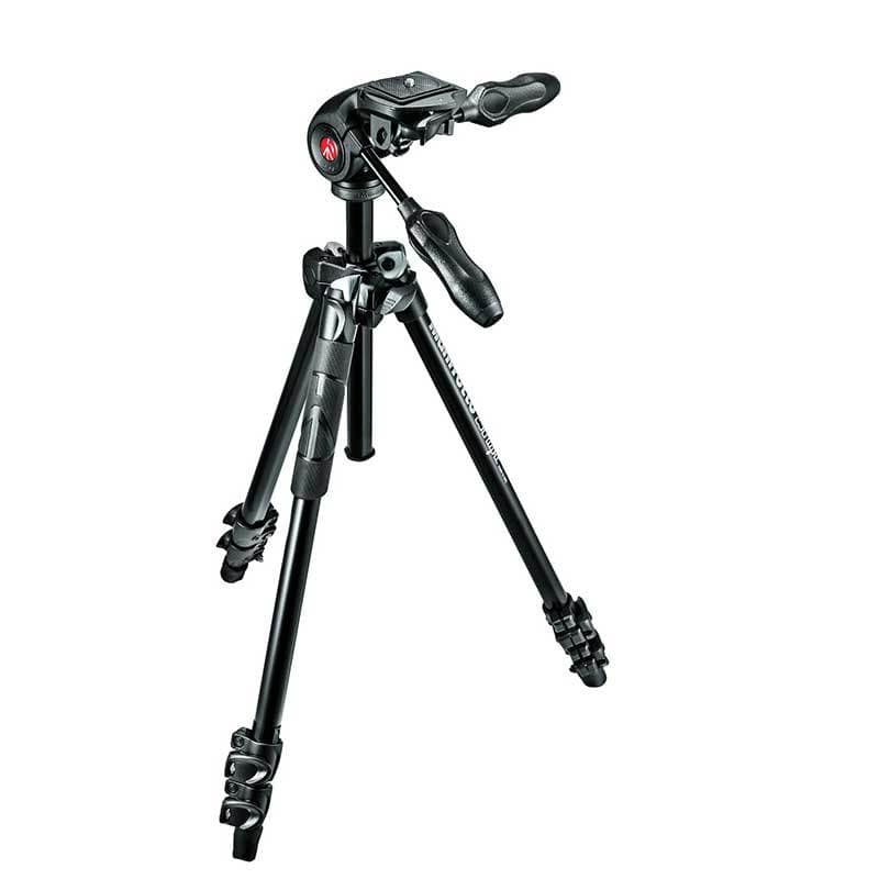 Manfrotto 290 Light Aluminium 3-Way Pan Head Tripod