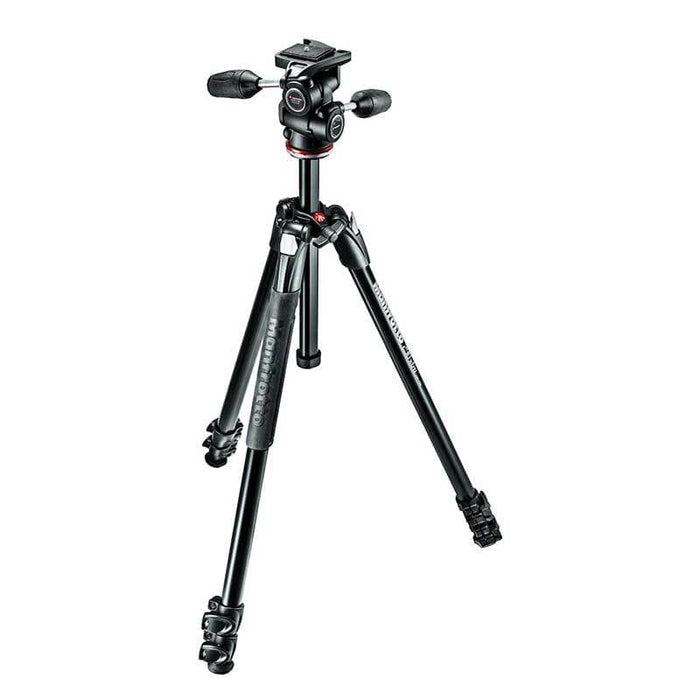 Manfrotto 290 Xtra Aluminium 3-Section 3-Way Pan Head Tripod