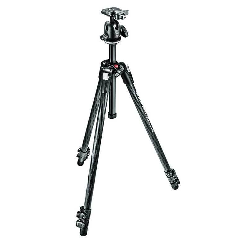 Manfrotto 290 Xtra Carbon Fibre 3-Section Ball Head Tripod