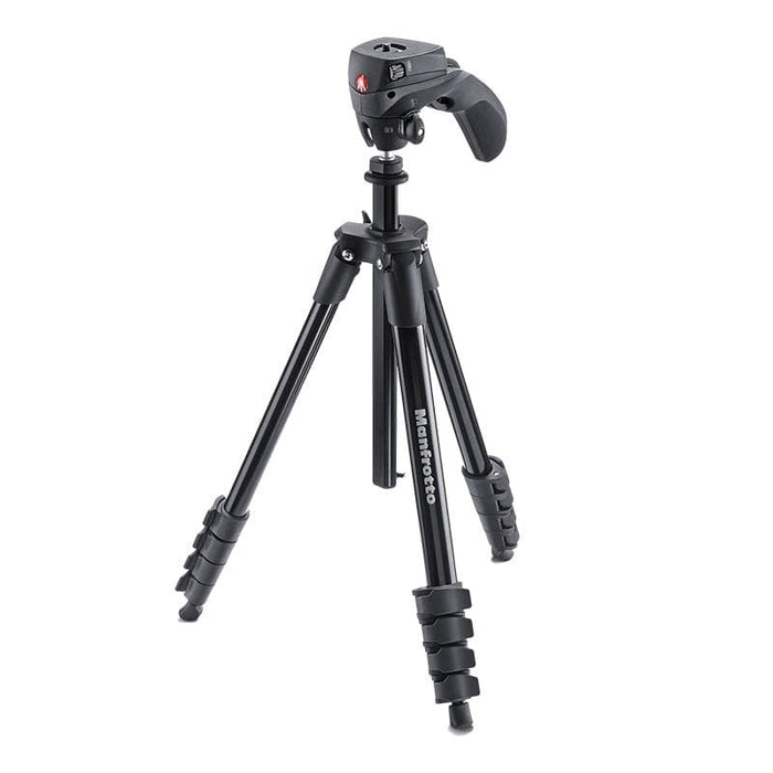 Manfrotto Compact Action Aluminium Tripod (Hybrid Head - Black or Red)