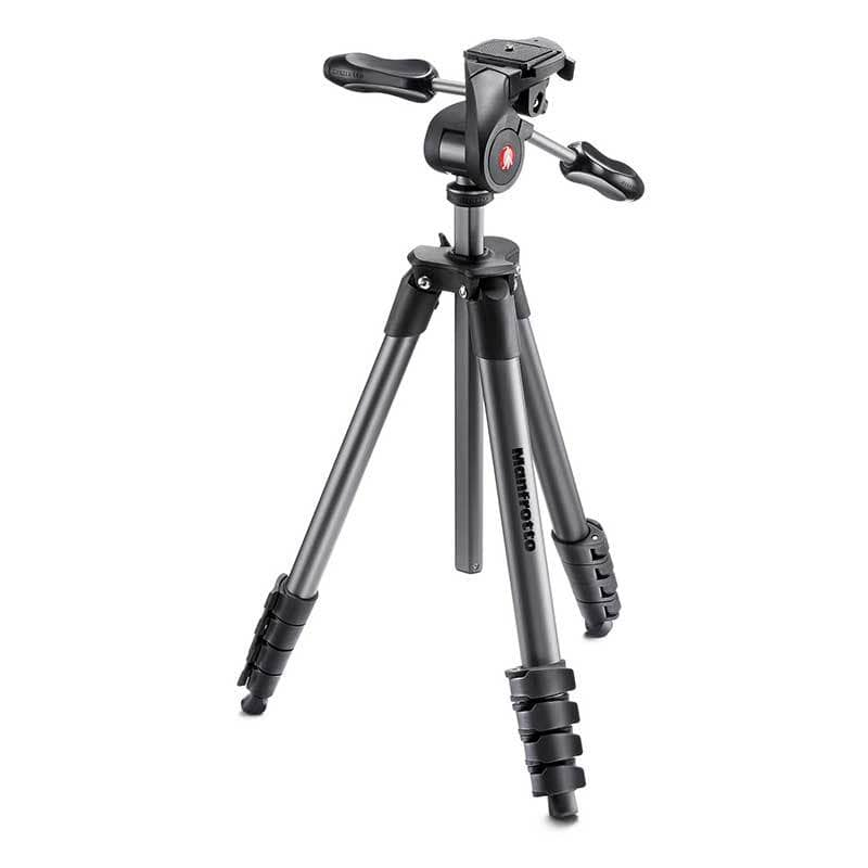 Manfrotto Compact Advanced Aluminium Tripod with 3-way Pan Head