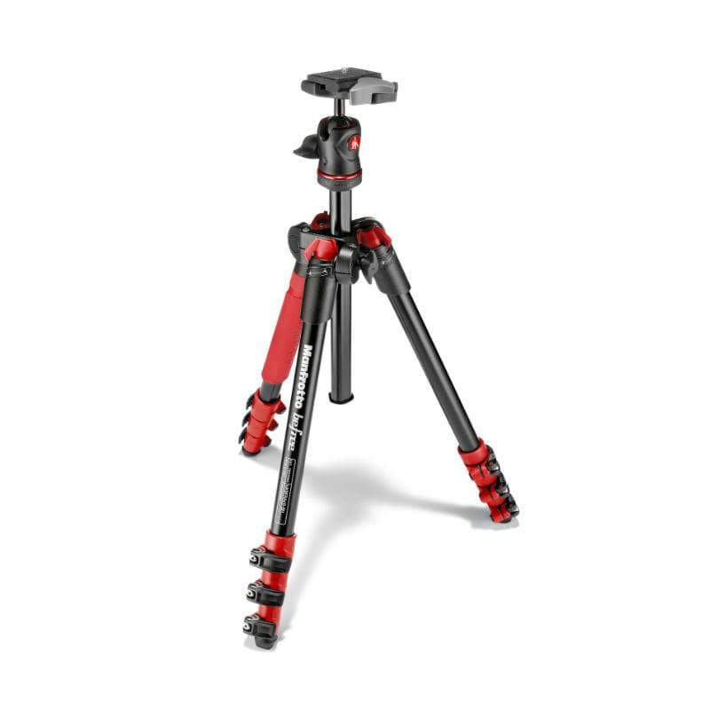 Manfrotto Befree Aluminium Red Tripod with Ball Head