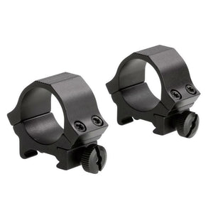 "Sun Optics 1"" Weaver Style Sports Rings - Low, Black Matte"