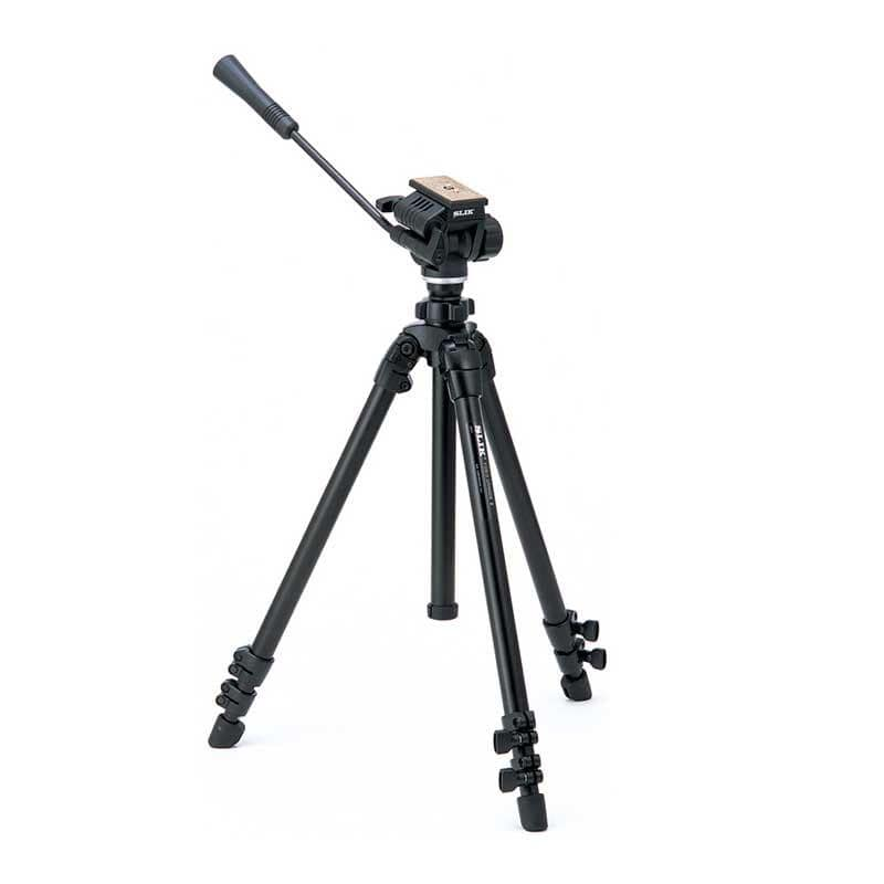 Slik 504 QF II Video Tripod with 3-Way Pan Head