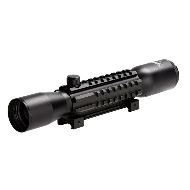 Sun Optics 4x32 Tactical Rifle Scope with picatinny side and top mount rails