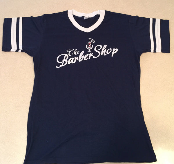 Striped Sleeve Barbershop Tee