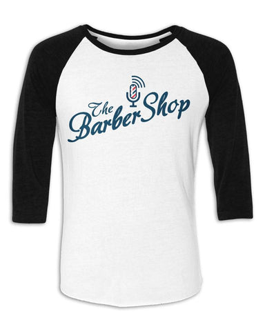 Original Barbershop Baseball Tee (White w/Black sleeves)