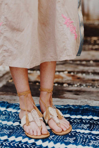 Beaded Sandals | Ruby Yaya