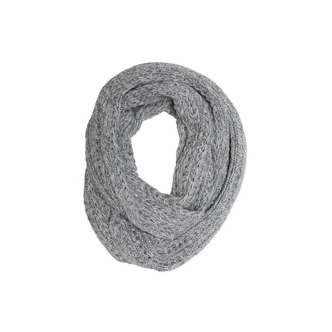 Knit Panel Loop Scarf
