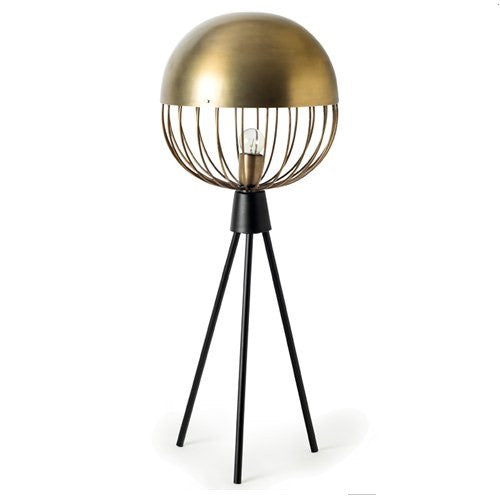 Gold Iron Sphere Table Lamp French Chateau