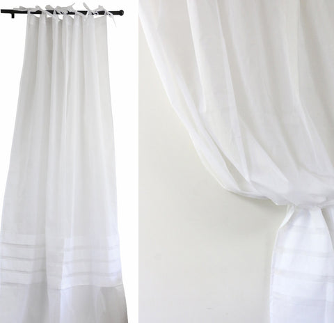 Voiled Pleated Curtain Set of 2
