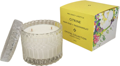 Citrine - Paw Paw + Passionfruit | Candle