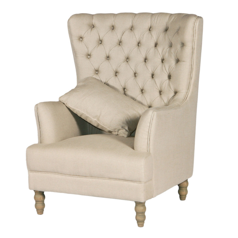 Linen Wing Chair - French Chateau ...  sc 1 st  French Chateau & Linen Wing Chair | French Chateau