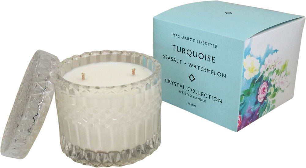 Turquoise - Seasalt + Watermelon | Candle - French Chateau
