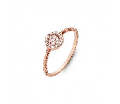 CZ Twist Ring
