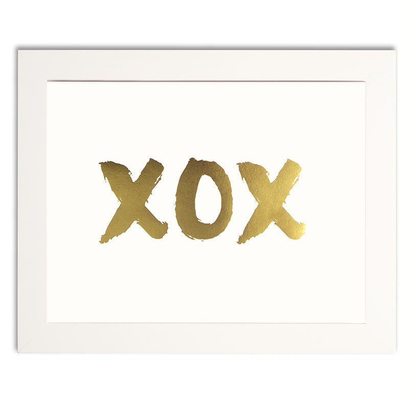 XOX | Gold Foiled Print - French Chateau