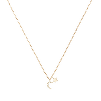 14k Gold Diamond Evening Sky Necklace