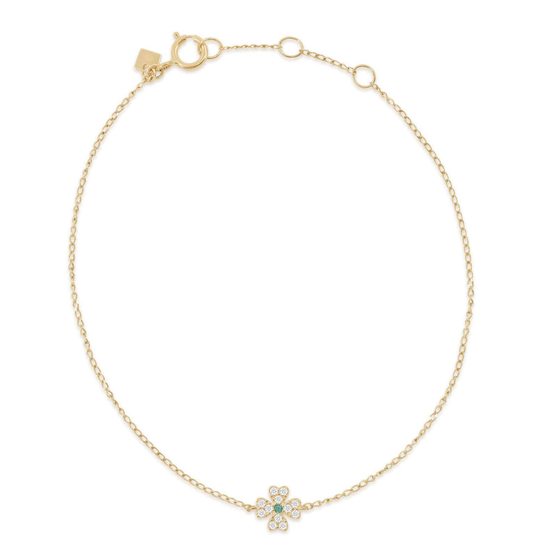 14k Gold Clover of Luck Bracelet