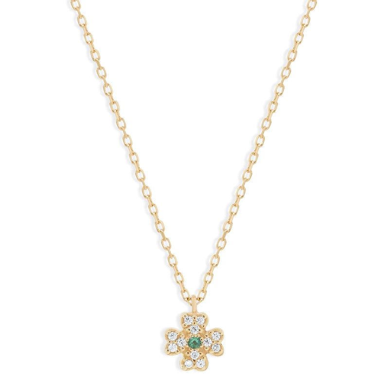 14k Gold Clover of Luck Necklace