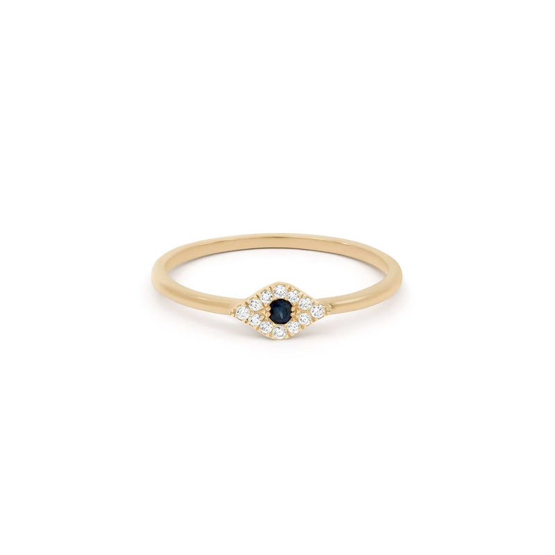 14k Gold Evil Eye Ring
