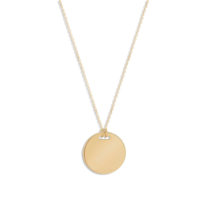 14k Gold Live in Light Large Necklace