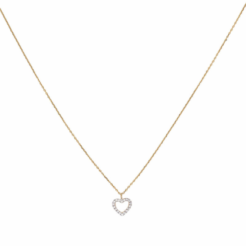 14k Gold Eternal Love Diamond Necklace
