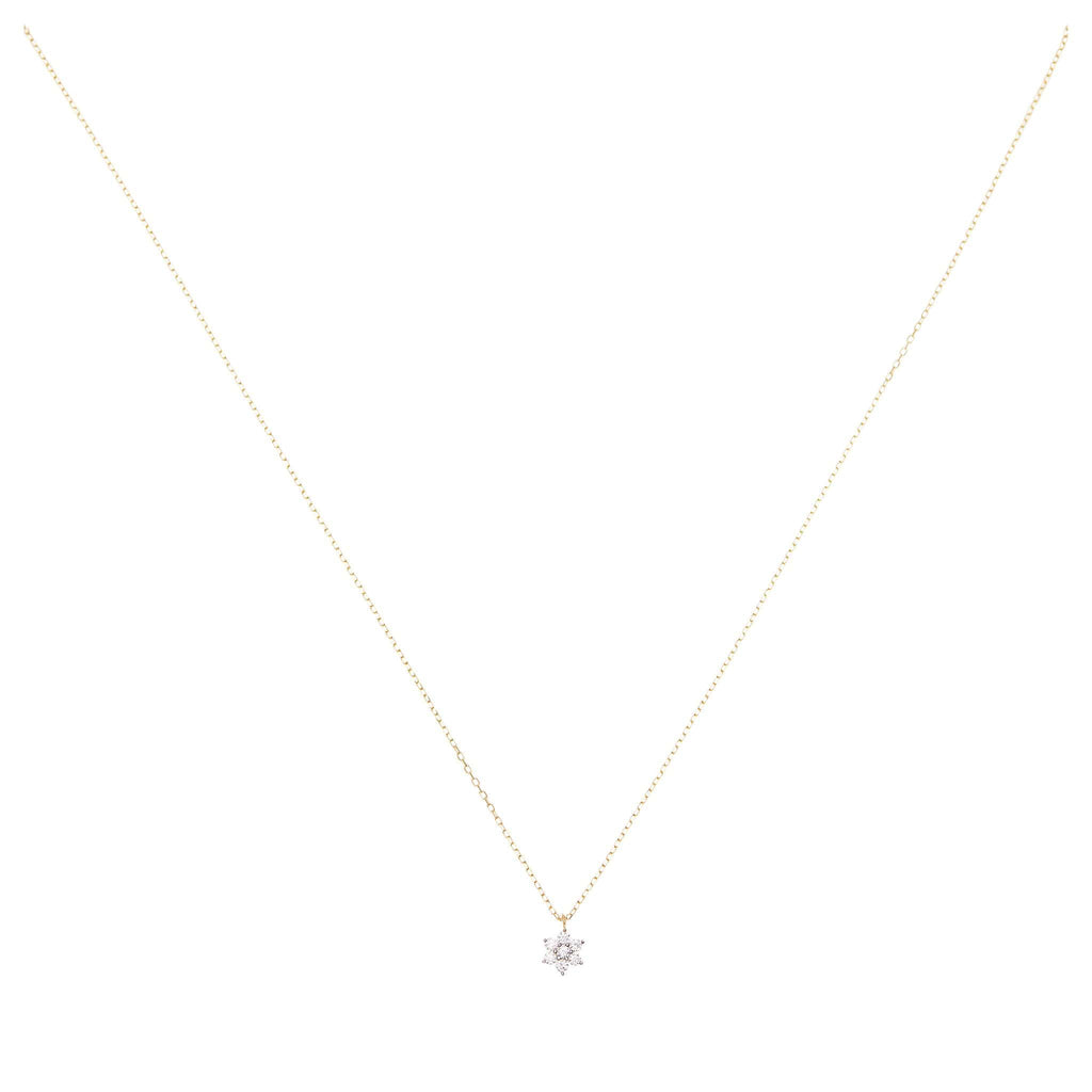 14k Gold Crystal Lotus Flower Necklace By Charlotte