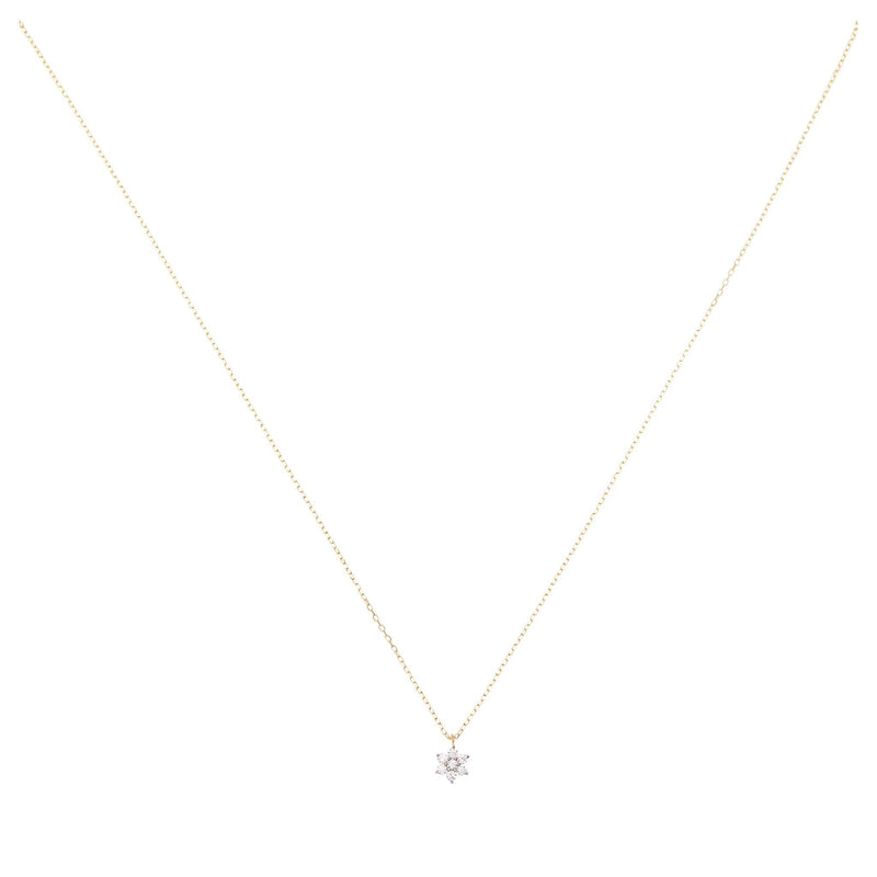 14k Gold Crystal Lotus Flower Necklace