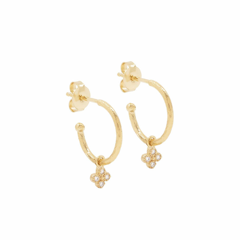 Gold Luminous Hoops