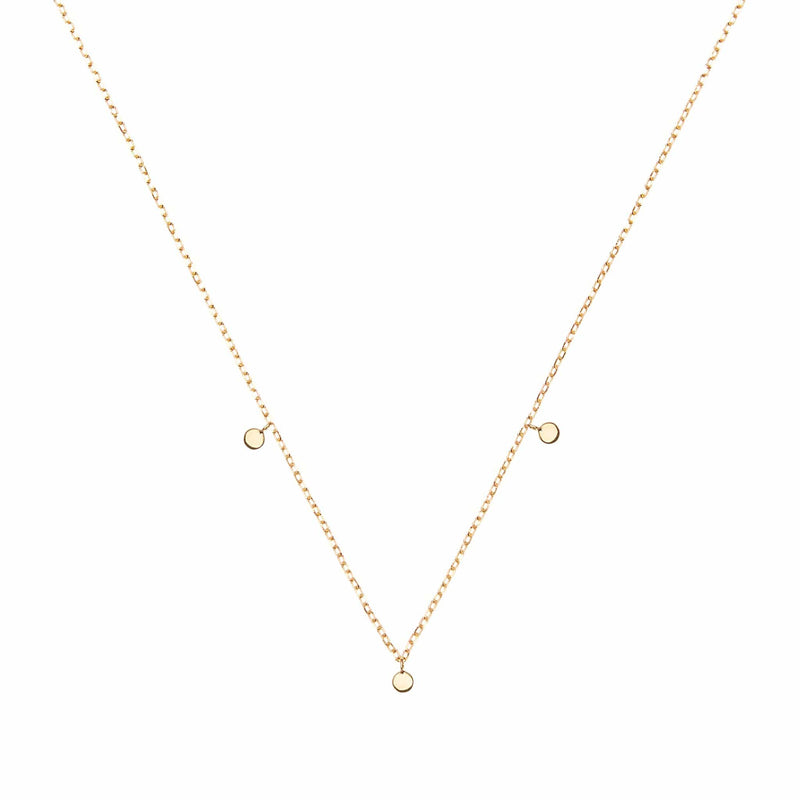 14k Gold Lunar Necklace