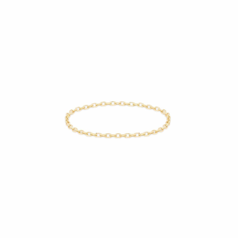 14k Gold Purity Chain Ring