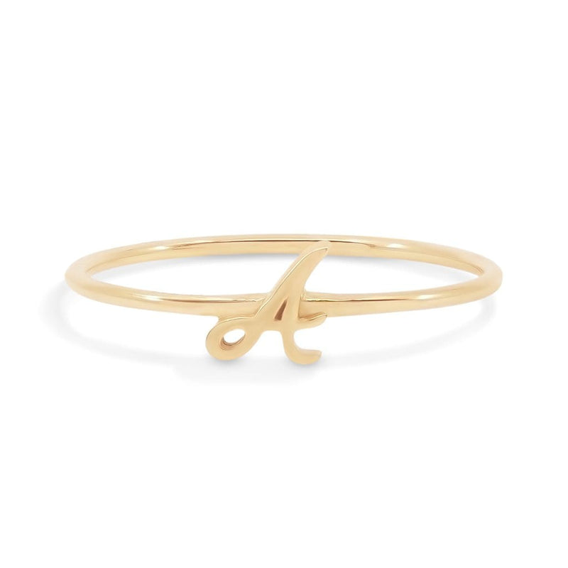 14k Gold Love Letter Ring (A to M)